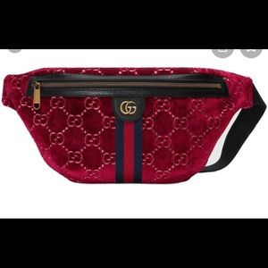 Gucci Belt bag Velvet GG Fanny pack purse
